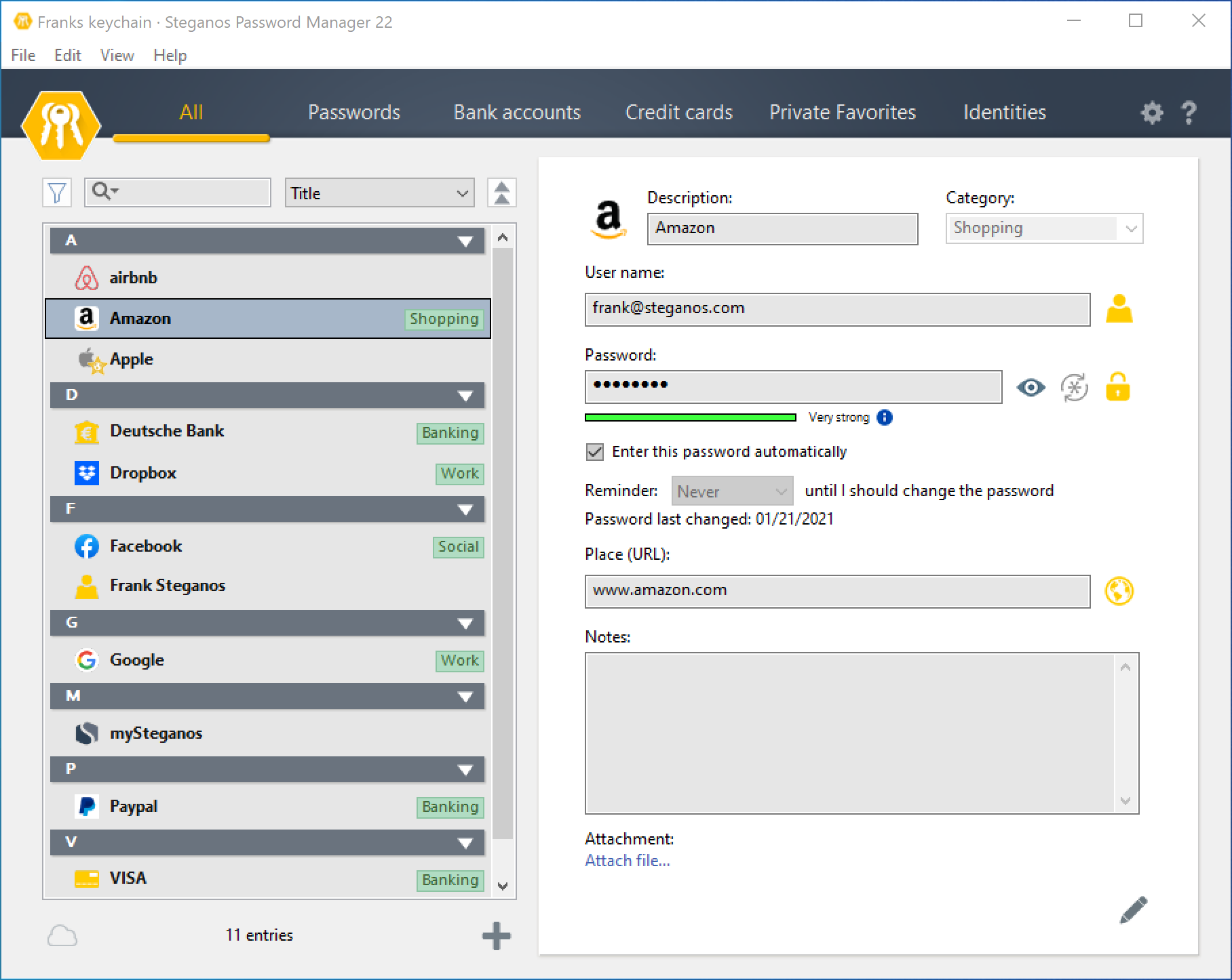 Protect passwords with Steganos Password Manager
